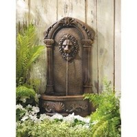 Lions Head Classic Style Courtyard Water Fountain