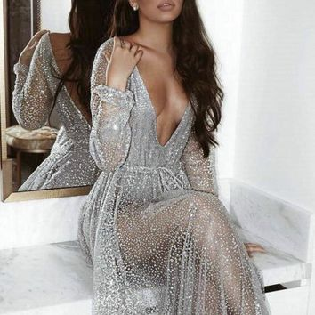 Orelia Sequined Maxi Dress
