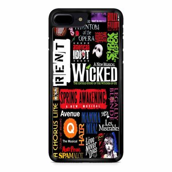 Famous Broadway Musiacal Plays Collage iPhone 8 Plus Case