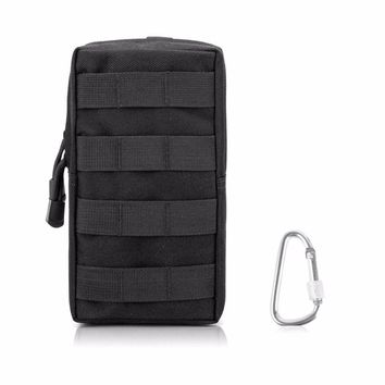 Tactical Pouch Military Bag Molle Waterproof Nylon EDC Utility Gadget Zipper Waist Pack Wallet Holster Pocket Cover for Vest