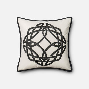 Loloi Black / White Decorative Throw Pillow (P0316)