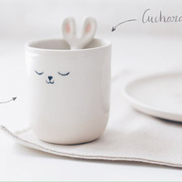 PREORDER - Cup + Spoon Handmade pottery - Benito Tableware