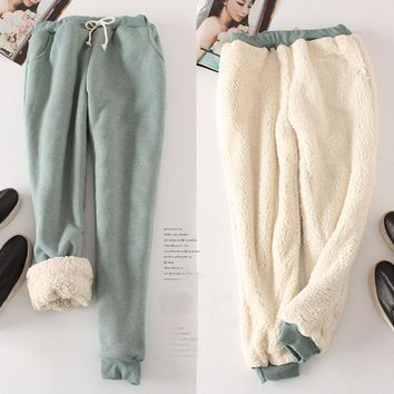 Autumn and Winter Women Casual Velvet Harem Pants Thick Loose Shirley Pants Female Fleece Long Trousers Pantalones Pitillo Mujer