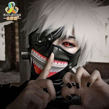 ESBONHS High Quality Clearance Tokyo Ghoul 2 Kaneki Ken Mask Adjustable Zipper Masks PU Leather Cool Mask Blinder Anime Cosplay
