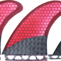 Kinetik X2 Twin Fin Carbo Tune Futre Red/Blk W/Stablizr