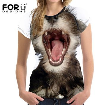 T Shirt For Woman Tops Funny 3D
