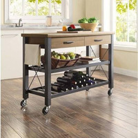 Whalen Multi-functional Cart with Shelves