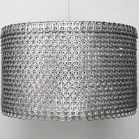 Soda Can Tab Drum Shade  Large EcoFriendly by Zipper8Lighting