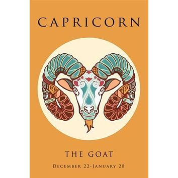 capricorn astrology ART POSTER 24X36 the goat SYMBOLIC classic COLORFUL new