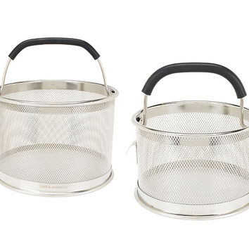 CooksEssentials Set of 2 Multi-Function Mesh Straining Baskets — QVC.com