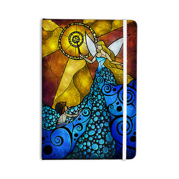 "Mandie Manzano ""Blue Fairy"" Aqua Yellow Everything Notebook"