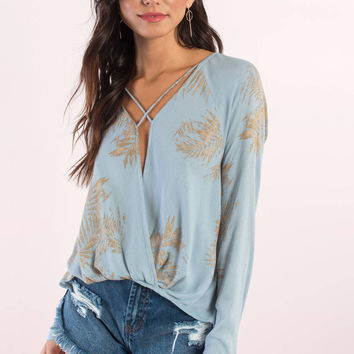 Rachel Cross Front Surplice Top