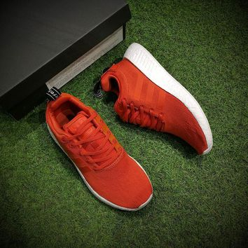 Adidas NMD R2 Boost Orange Men Women Running Sneaker BY9915
