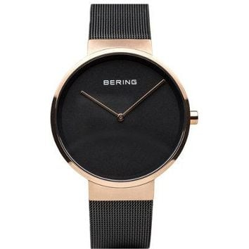 Rosetone IP-Plated Milanese, Bracelet Watch By Bering