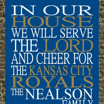 Customized Name Kansas City Royals MLB Baseball personalized family print poster Christian gift sports wall art - multiple sizes