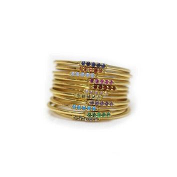 14kt Gold Birthstone Alinea Ring