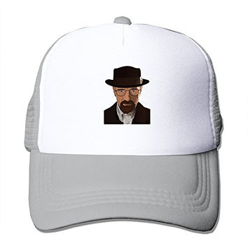 Custom Adult Unisex Breaking Bad Heisenberg 100% Nylon Mesh Caps One Size Fits Most Adjustable Hat