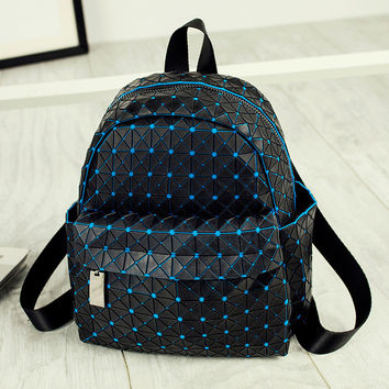 Back To School Casual Comfort On Sale Hot Deal College Summer Korean Stylish Geometric Patchwork Backpack [8384589639]