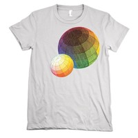 Color Theory TShirt Rainbow tee WOMENS shirt by nonfictiontees
