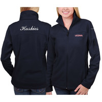 UConn Huskies Columbia Women's Give & Go Full Zip Jacket – Navy Blue