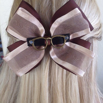 Carl Fredrickson Up Brown Bow with Glasses, Ellie Badge by Design Bowtique