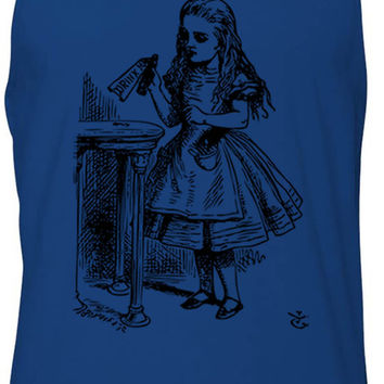 Alice in Wonderland - Drink Me (Black) Tank-Top T-Shirt
