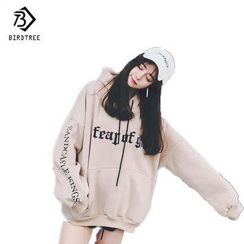 New Hoodies Harajuku Fleece Women Sweatshirts 2017 Autumn Kroean Pullovers Print Letter Tunic Cheap Clothing China Hot C78494A