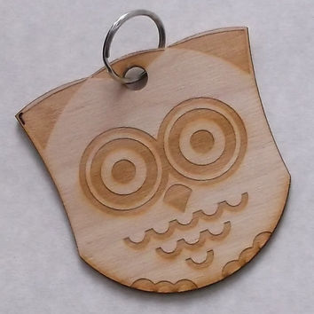 Wooden Owl Key Ring, Gift Idea, Home decoration, Wood, Lasercut