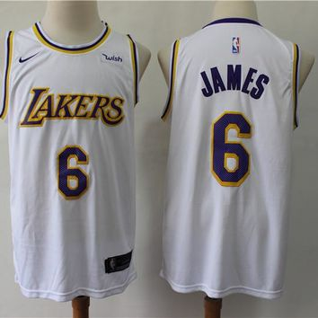 2019-2020 Lakers 6 LeBron James Basketball Jersey