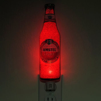 12oz Amstel Light Beer 12oz Night Light Accent Lamp VIDEO DEMO Eco LED Fathers Day