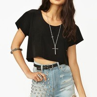 Stella Crop Tee - Black