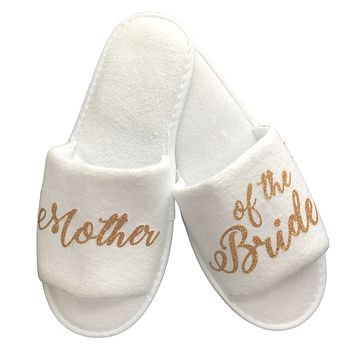 Wedding Party Slippers- Gold