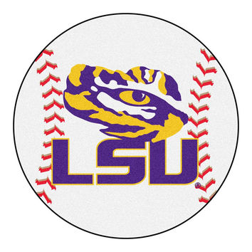 Louisiana State Fightin Tigers NCAA Baseball Round Floor Mat (29) LSU Logo