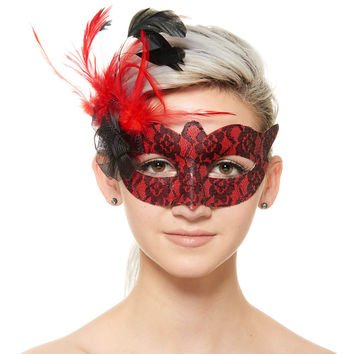 Masquerade Masks, Red Sexy Prom Venetian Mask Masquerade Decorations For Women