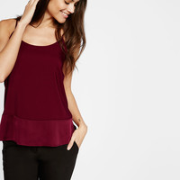 curved hem pieced cami