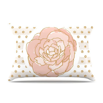 "Pellerina Design ""Watercolor Peony"" Pink Floral Pillow Case"