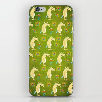 Flowers & Unicorns iPhone & iPod Skin by That's So Unicorny
