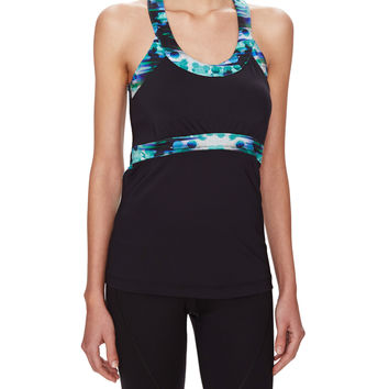 C&C Sport T-Back Tank Top with Shelf Bra -