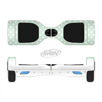 The Vintage Light Green Polka Dot With White Strip copy Full-Body Skin Set for the Smart Drifting SuperCharged iiRov HoverBoard