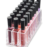 byAlegory Acrylic Lip Gloss Makeup Organizer | 24 Spaces