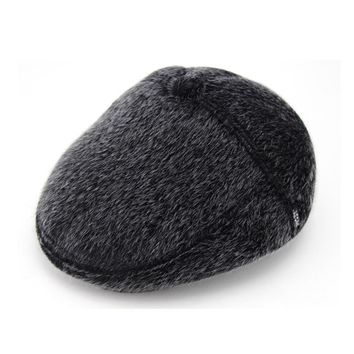 Winter Warm Faux Fur Hats Men High Quality Russian Snow Hat with Earflaps Thicken Bonnet for Men