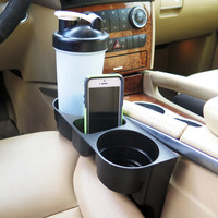 Evelots Custom Accessories, Auto Front Seat Organizer, Wedge Cup Holder, Black