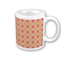 Acid And Pink Polka Dots Pattern Coffee Mugs from Zazzle.com