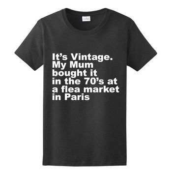 It's Vintage, Womens Graphic Tee