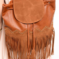 FRINGE DETAIL BACKPACK