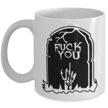 Halloween Coffe Mug Rip Halloween Tea Cup Creepy Ceramic Skull Graveyard Skelleton Candy Gift Mugs & Pencil Holder