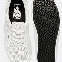 Vans Era White Perforated Lace Up Trainers