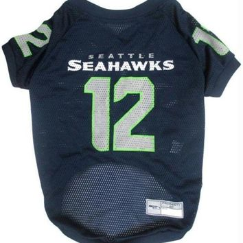 VONE05RR Seattle Seahawks '12th Man' Pet Jersey