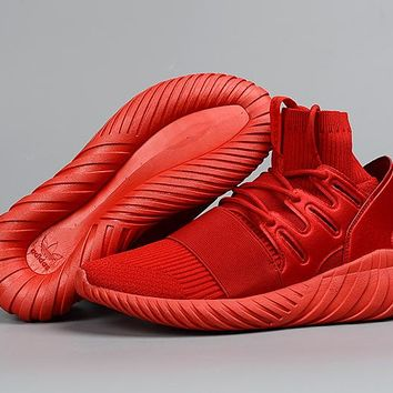 [Free Shipping]  Adidas Tubular Doom PK  Red  Sneakers