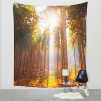 Sunshine forest Wall Tapestry by Pirmin Nohr